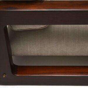 Retro Rosewood Armchair Vintage 1960's
