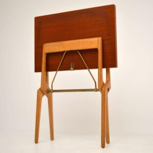 Retro Rosewood Folding Card Table Vintage 1960'S