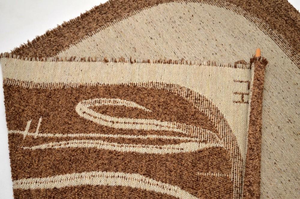 Retro Scandinavian Wool Tapestry Vintage 1960 S