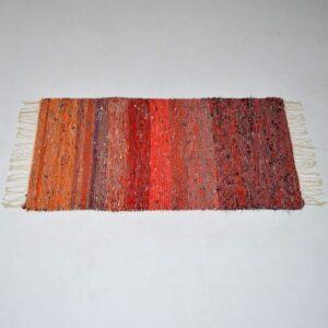 Retro Scandinavian Woven Wool Rug Vintage 1960'S
