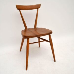 Retro Solid Elm Chair By Ercol Vintage 1950'S
