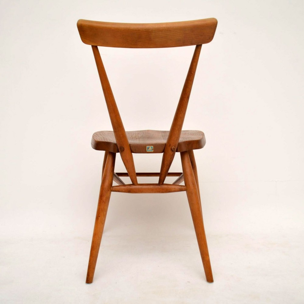 Retro Solid Elm Chair By Ercol Vintage 1950 S