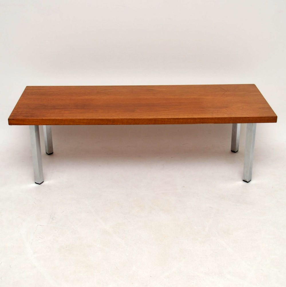 Retro Teak Amp Chrome Coffee Table Vintage 1970 S