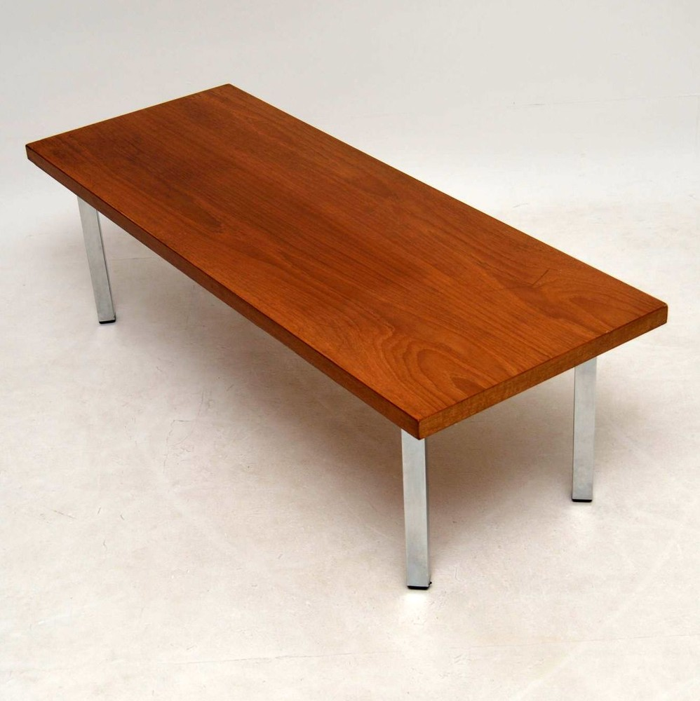 Vintage Teak Coffee Tables: Retro Teak & Chrome Coffee Table Vintage 1970'S