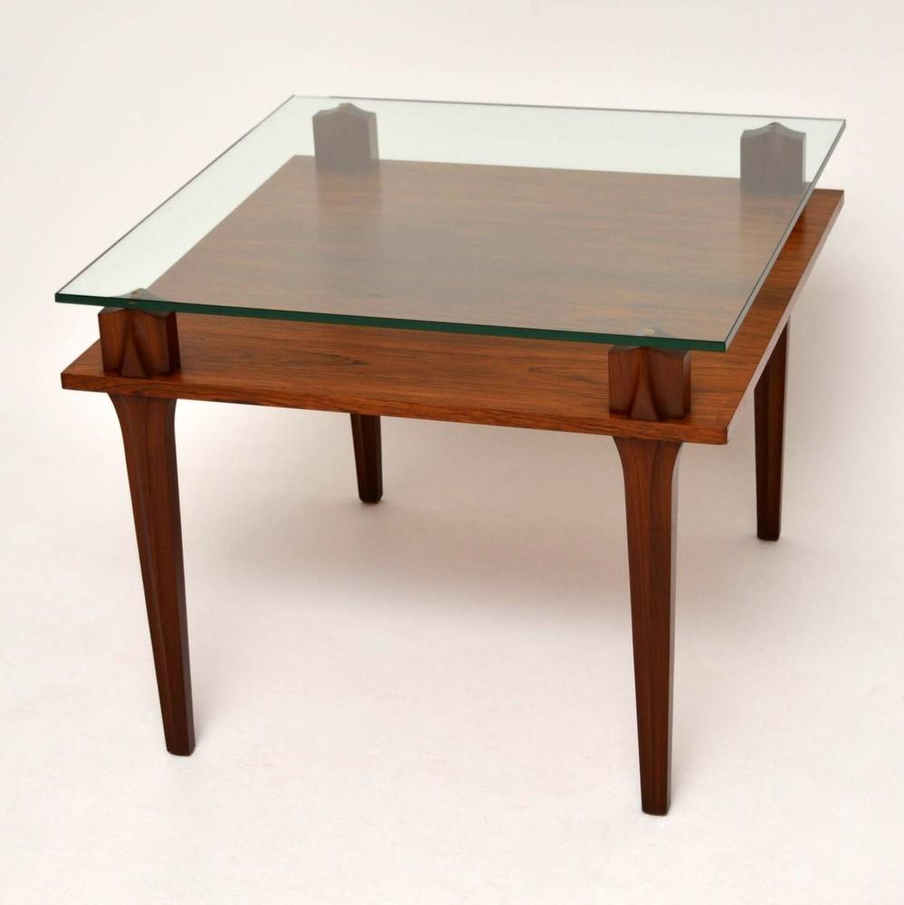 Retro Teak & Glass Coffee Table Vintage 1960'S