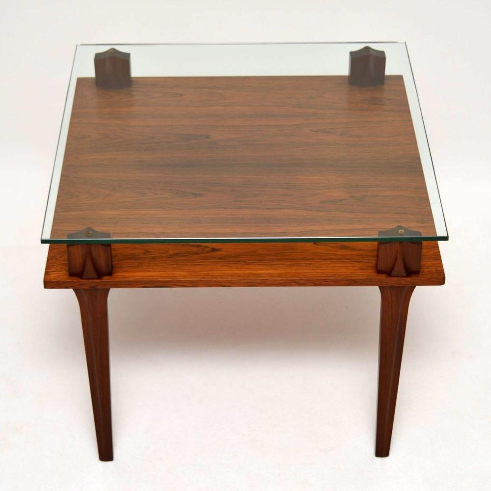 Teak Coloured Coffee Table: Retro Teak & Glass Coffee Table Vintage 1960'S