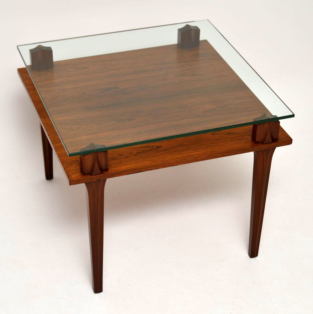 Retro Teak & Glass Coffee Table Vintage 1960'S ...