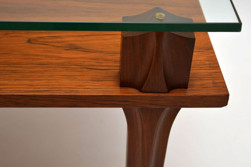 Retro Teak Amp Glass Coffee Table Vintage 1960 S