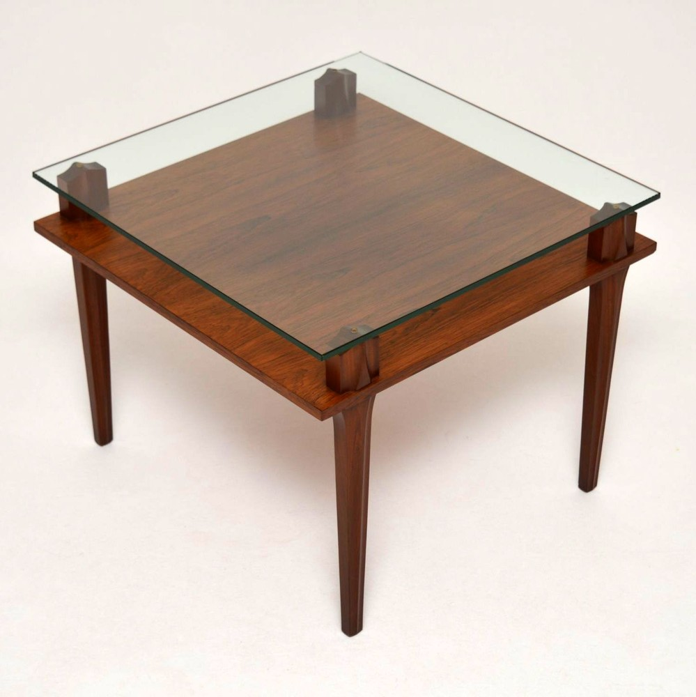 Glass Coffee Tables Next: Retro Teak & Glass Coffee Table Vintage 1960'S