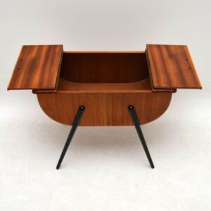 Retro Teak Sewing Box Vintage 1950's