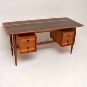 Retro Walnut Free Standing Desk Vintage 1950's