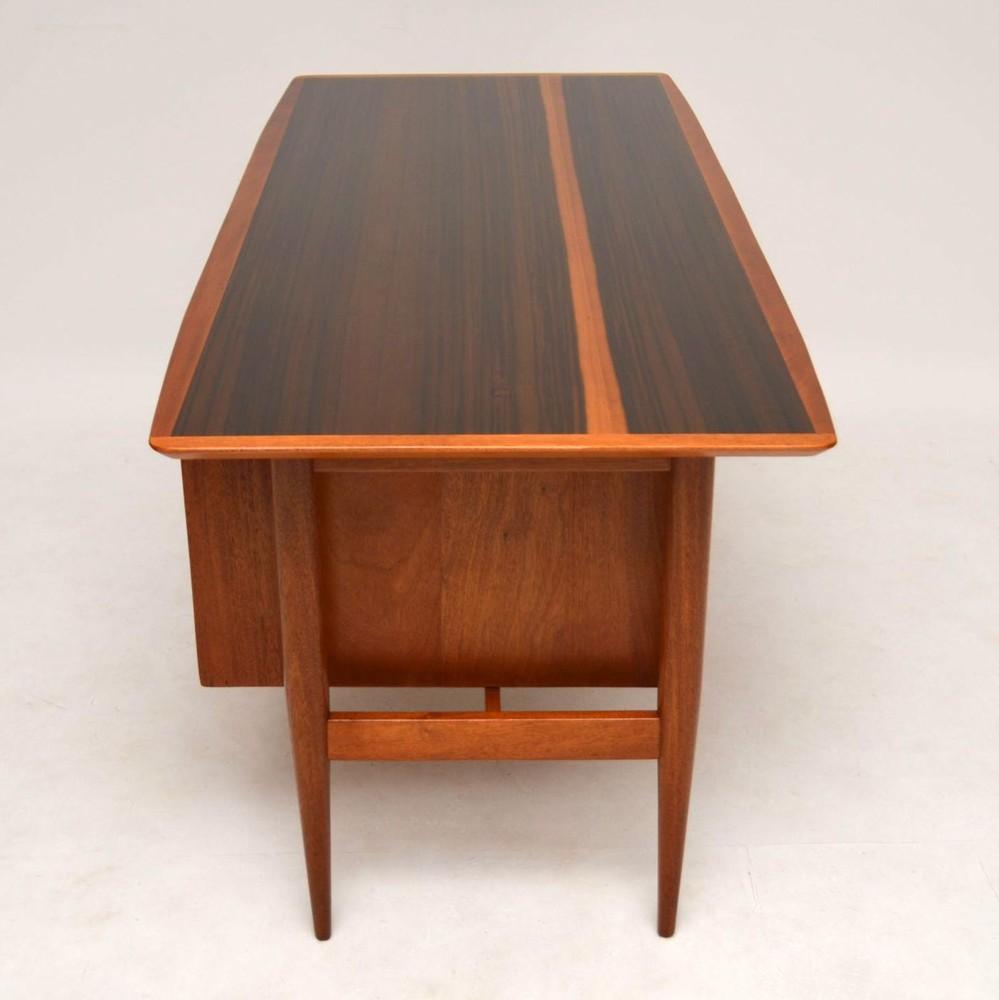Retro Walnut Free Standing Desk Vintage 1950 S