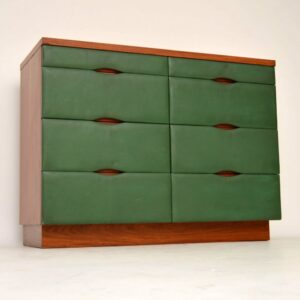 Rosewood & Leather Retro Sideboard / Chest of Drawers Vintage 1960's