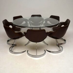 Scimitar Dining Table & Chairs By Boris Tabacoff Vintage 1970'S