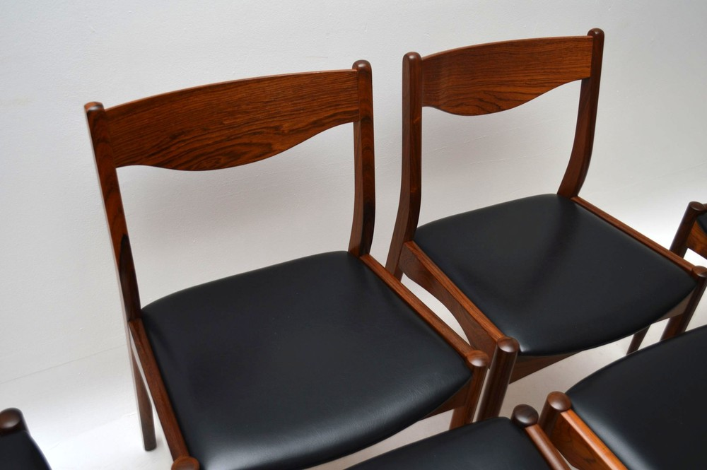 Set Of 6 Danish Rosewood Dining Chairs By Sl Mobler