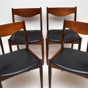 Set Of 6 Danish Rosewood Dining Chairs By SL Mobler Vintage 1960'S