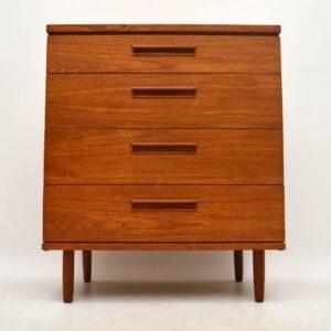 Danish Retro Teak Chest of Drawers Vintage 1960's