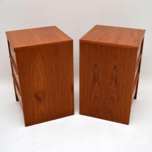 Pair of Danish Teak Retro Chests of Drawers Vintage 1970's