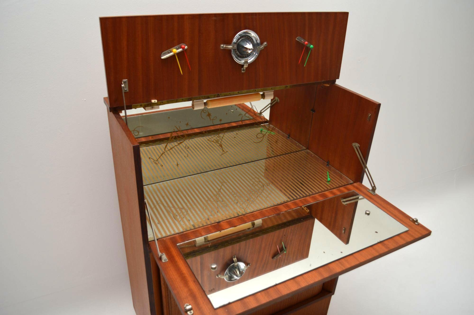 Danish Teak Retro Drinks Cabinet Vintage 1960 S
