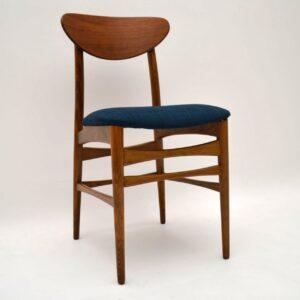 Set of 4 Danish Walnut Retro Dining Chairs Vintage 1960's