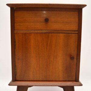 Retro Walnut Bedside Cabinet by Alfred Cox Vintage 1950's