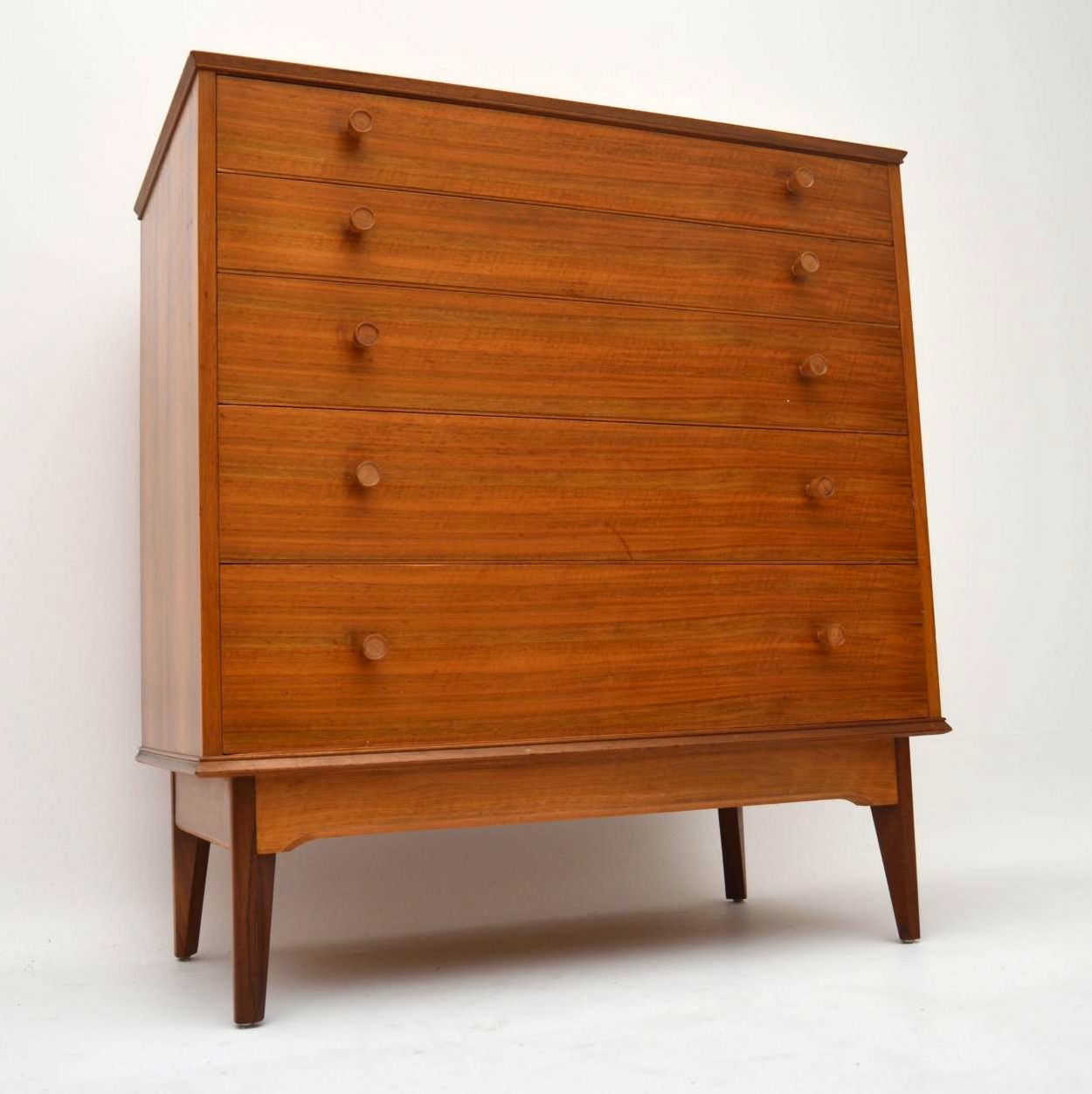 Retro Walnut Chest of Drawers by Alfred Cox Vintage 1960's