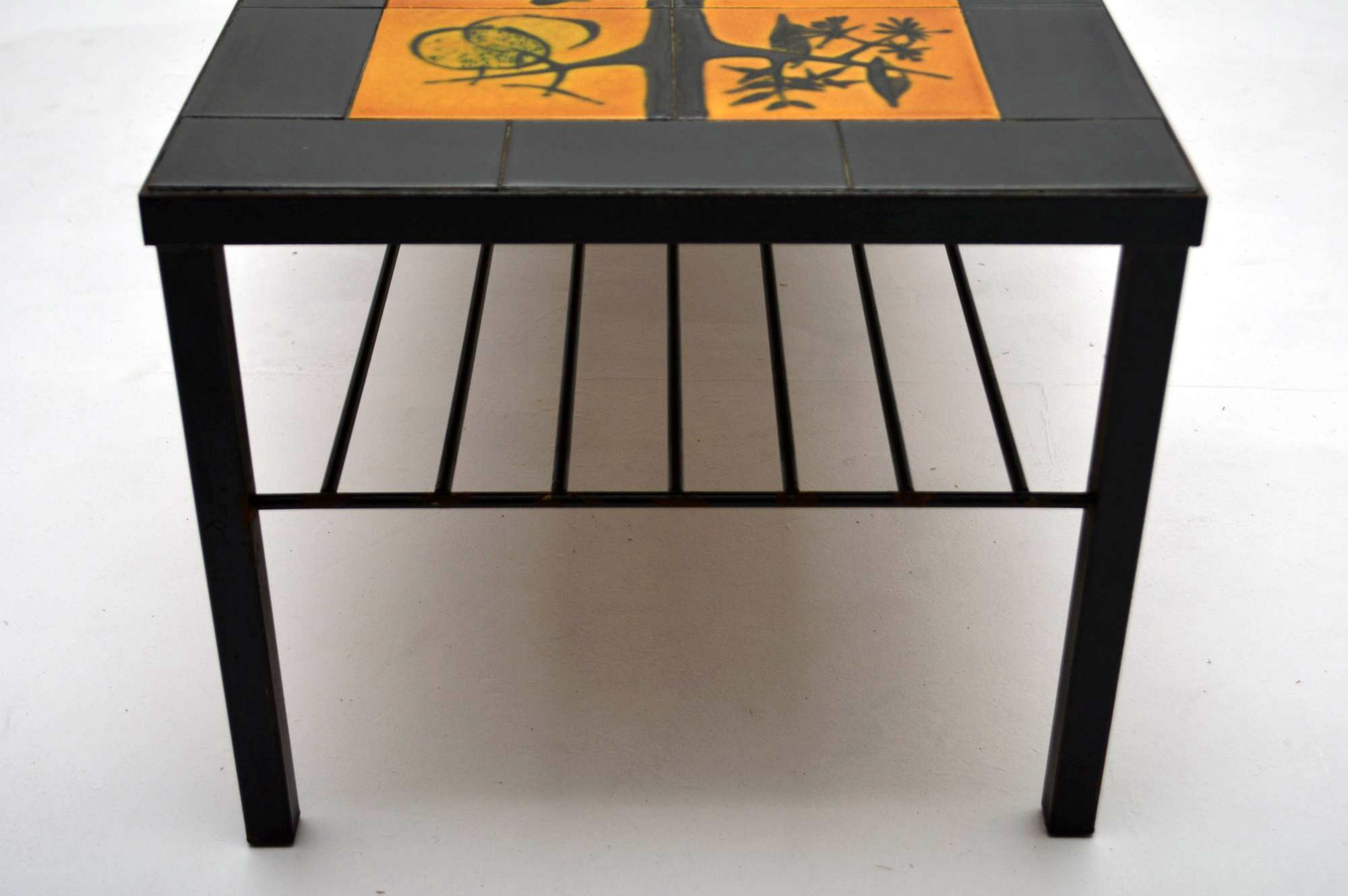 Retro Tiled Top Coffee Table Vintage 1960 S