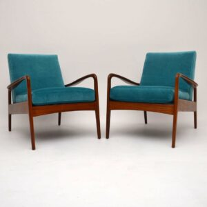 Pair of Retro Armchairs by Greaves & Thomas Vintage 1960's