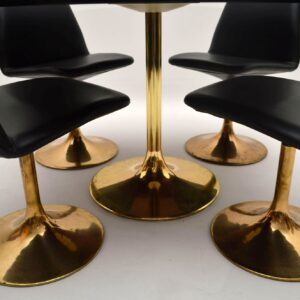 Retro Swedish Dining Table & Chairs by Borje Johanson Vintage 1960's