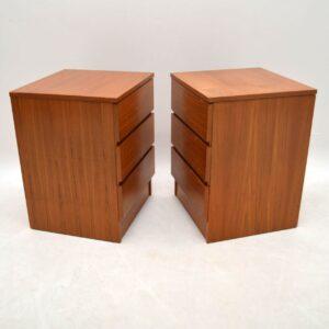 Pair of Danish Retro Teak Chest of Drawers Vintage 1960's