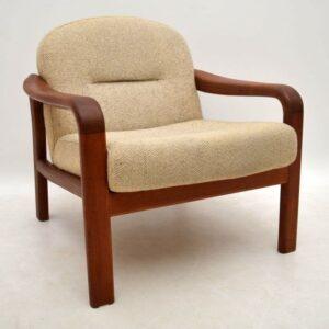 Danish Teak Retro Armchair by Komfort Vintage 1960's