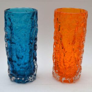 Pair of Retro Whitefriars Bark Vase by Geoffrey Baxter Vintage 1960's