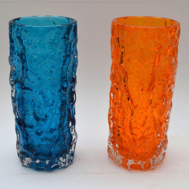 Pair Of Retro Whitefriars Bark Vase By Geoffrey Baxter