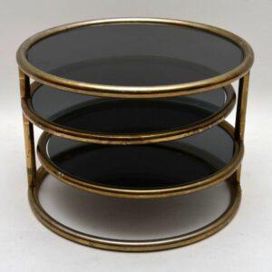 Retro Italian Brass Coffee Table Vintage 1970's