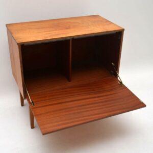 Retro Satin Wood Record Cabinet Vintage 1960's
