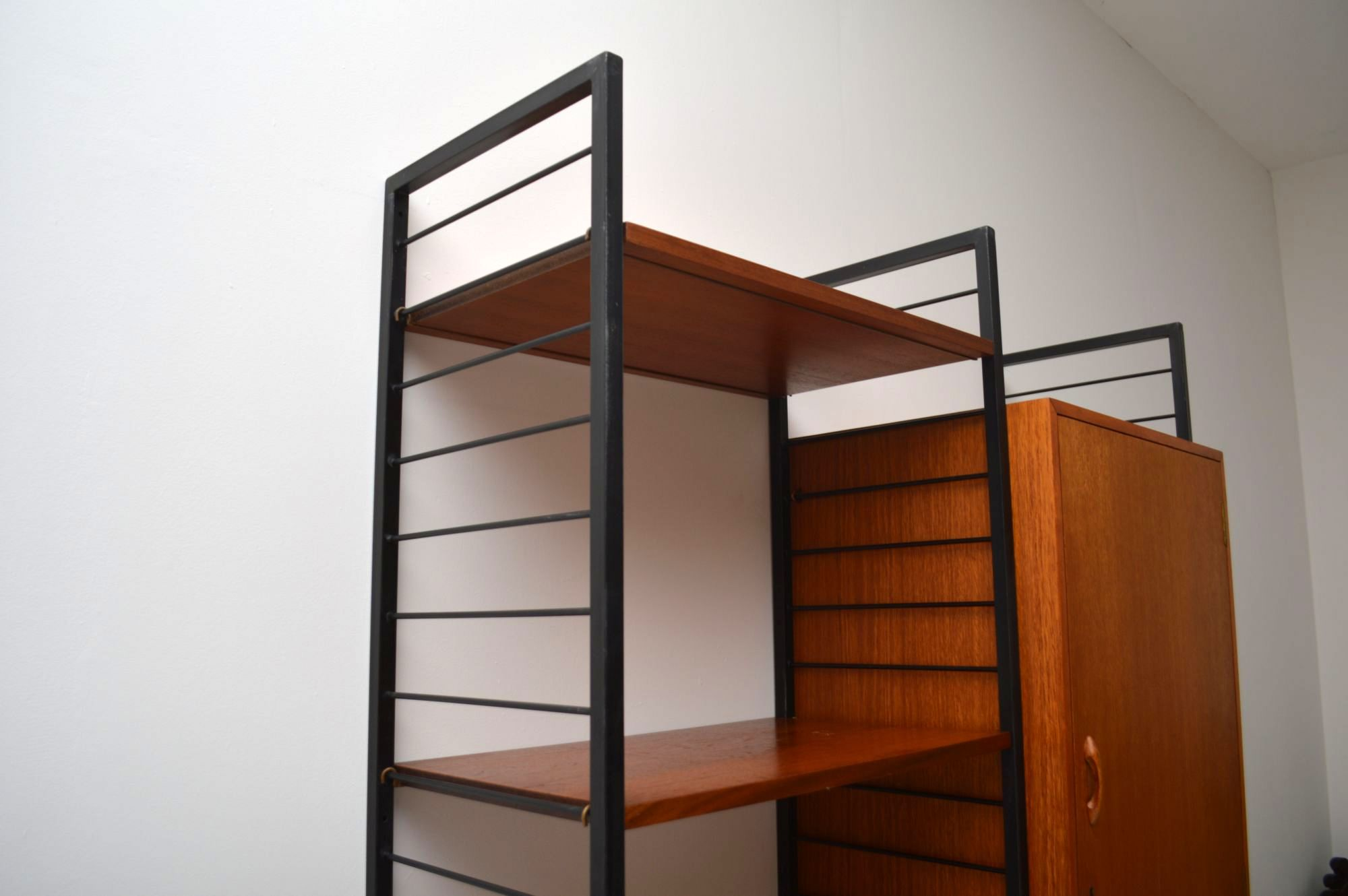 Retro Teak Ladderax Wardrobe Shelves Vintage 1960 S