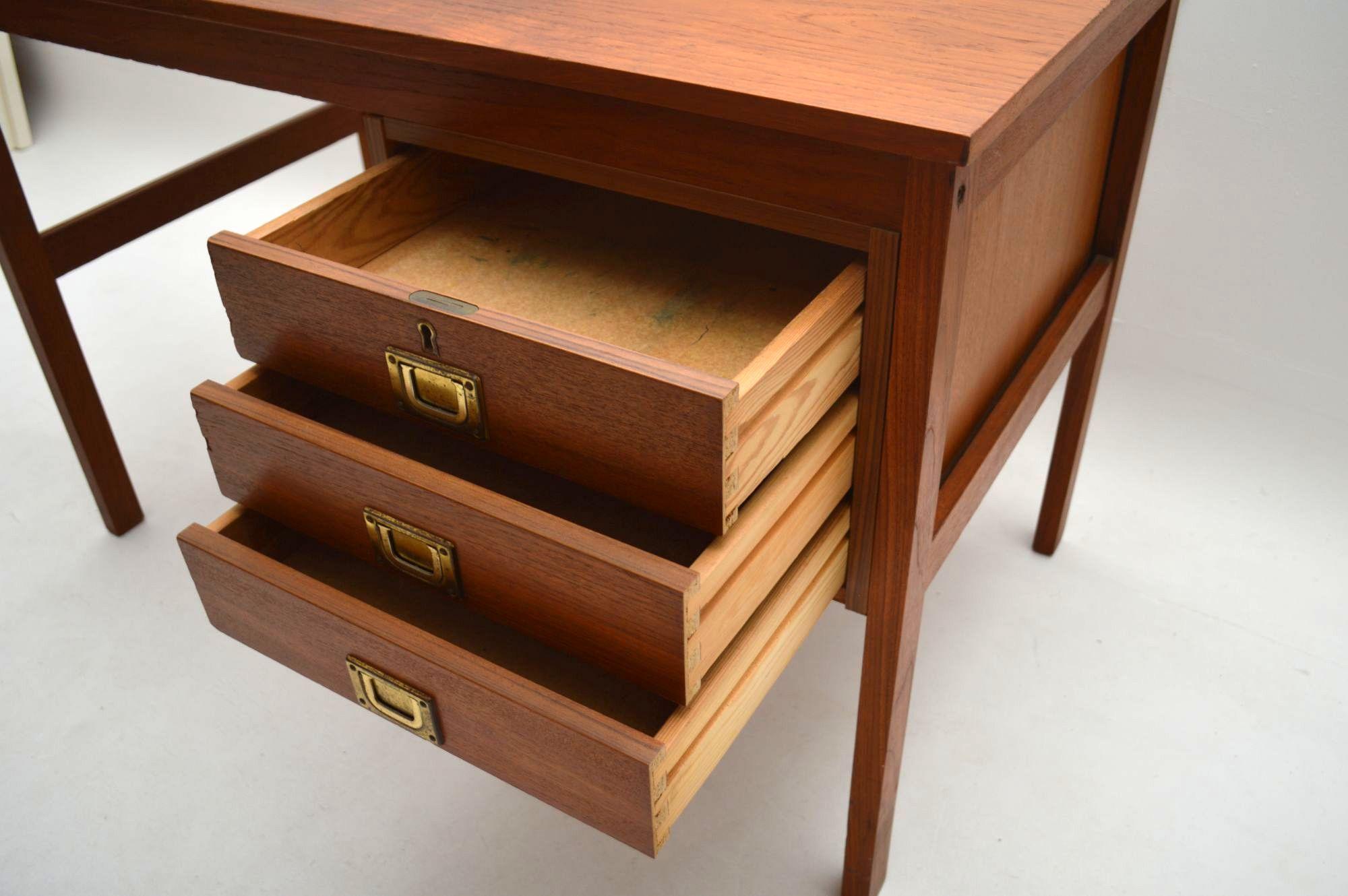 Danish Teak Retro Desk Vintage 1960 S