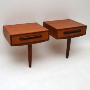 Pair of Retro Teak Bedside Tables by G- Plan Vintage 1960's