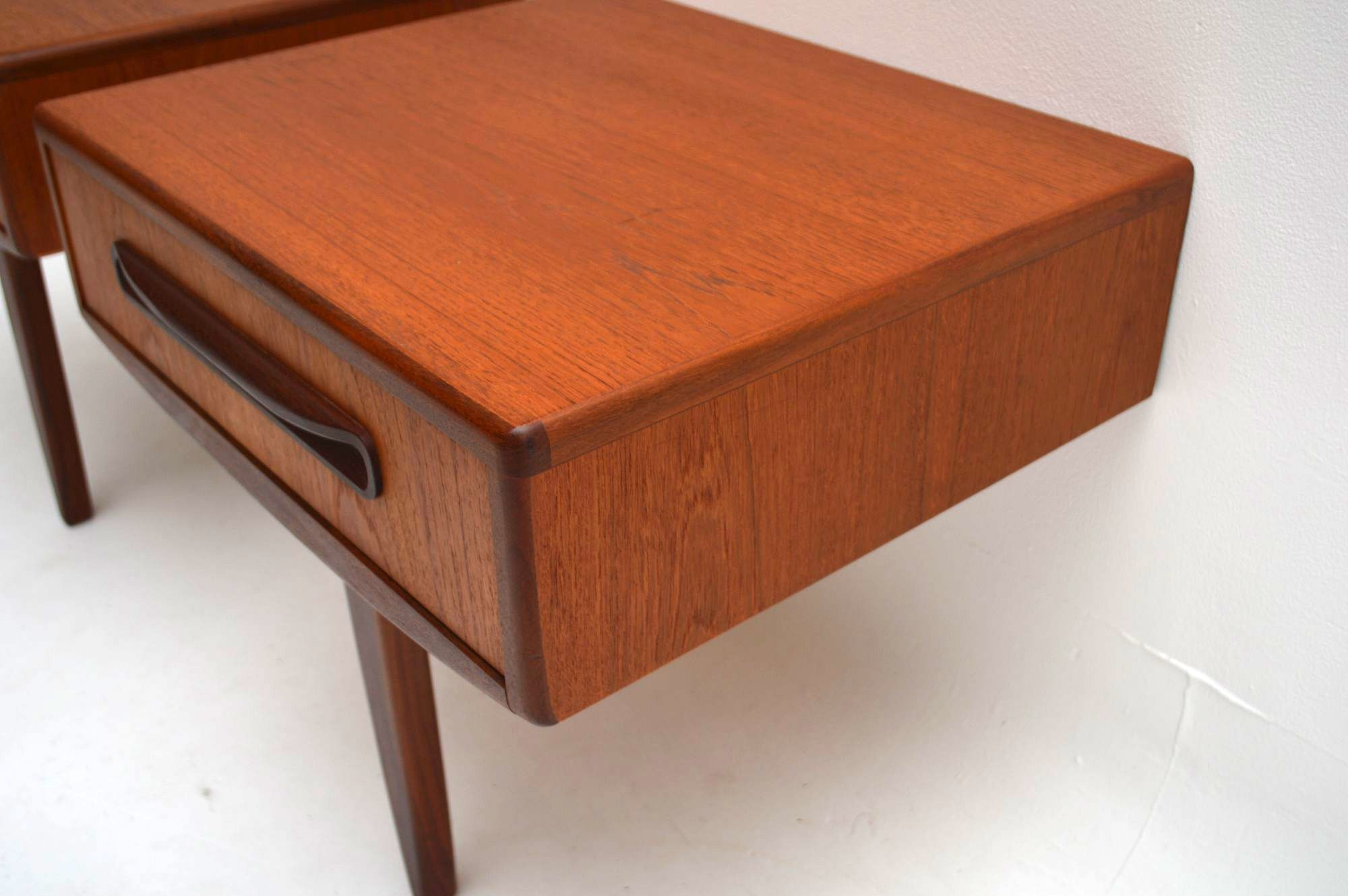 Pair of Retro Teak Bedside Tables by G Plan Vintage 1960 s