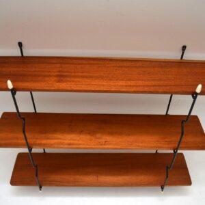 Retro Teak Wall Mounting Bookcase Vintage 1950's