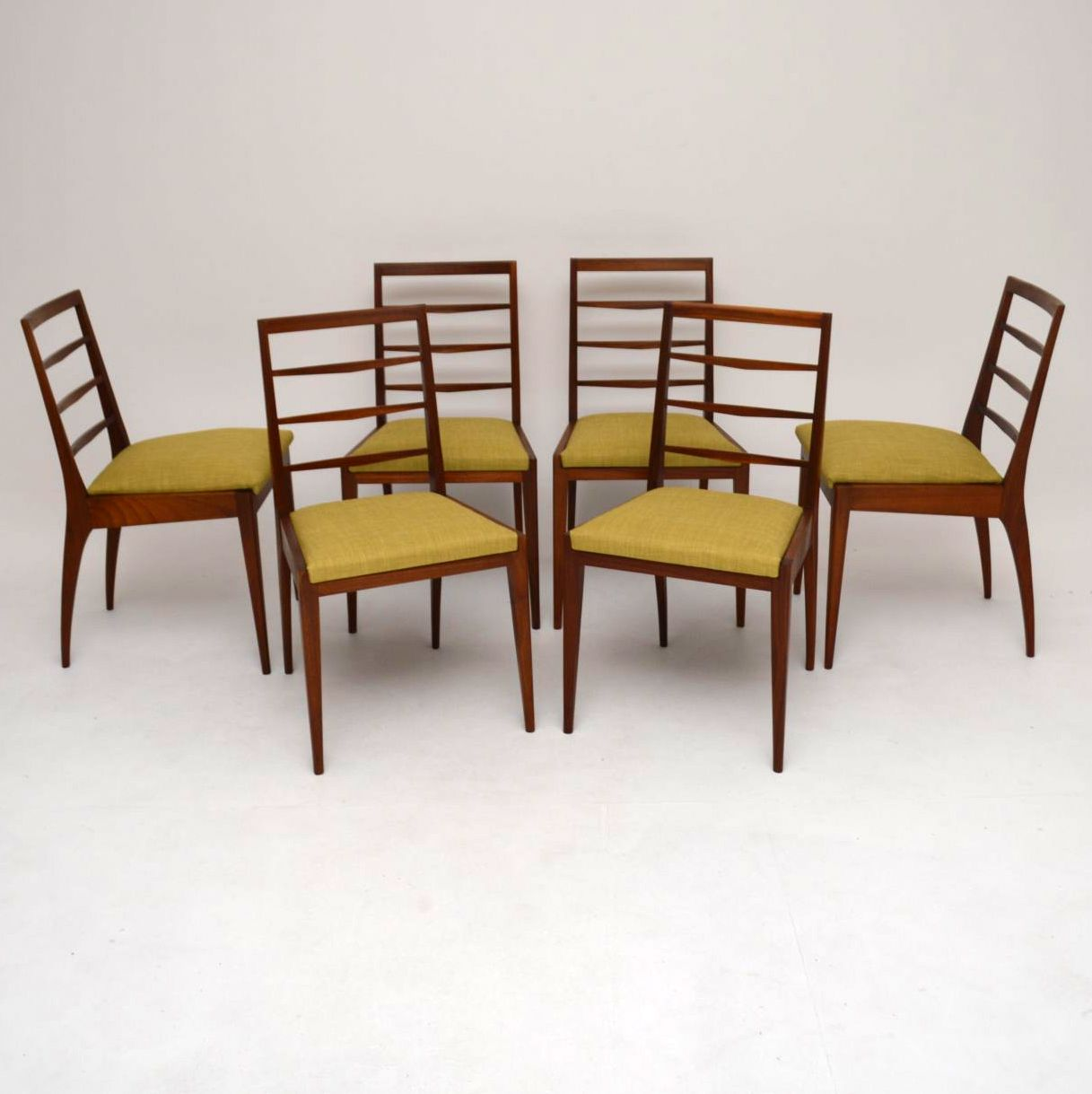 Set of 6 Retro Teak Dining Chairs by McIntosh Vintage 1960's