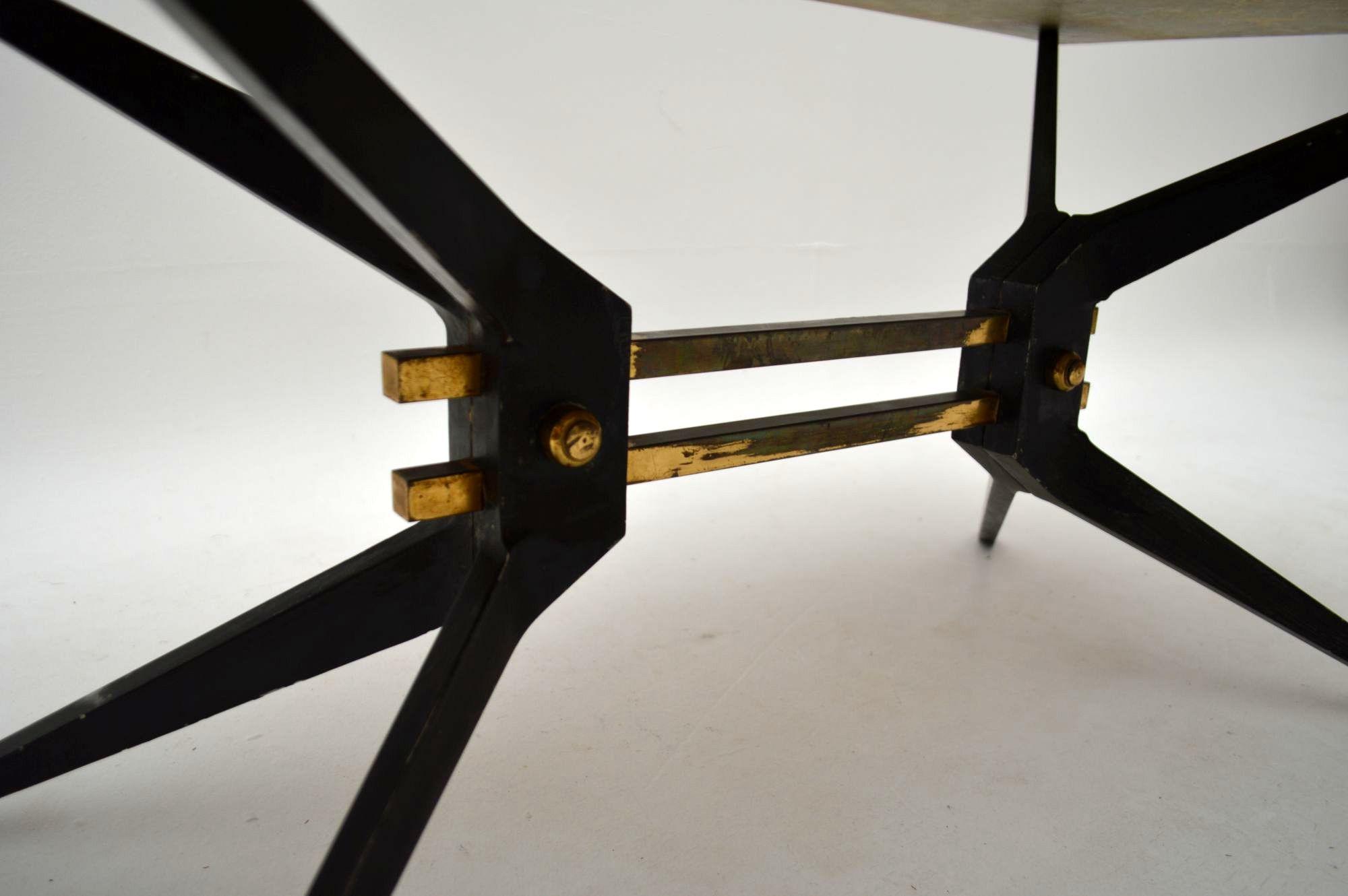 Retro Italian Onyx Amp Steel Coffee Table Vintage 1950 S