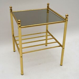 Retro Brass Side Table Vintage 1970's