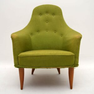 Retro Swedish Armchair by Kerstin Horlin-Holmquist Vintage 1960's