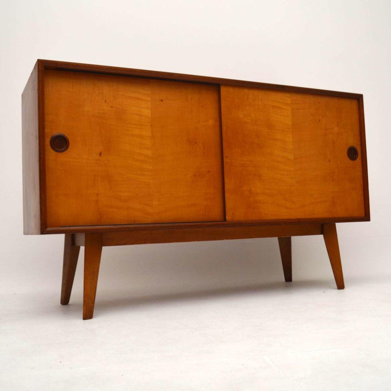 Retro Satin Wood& Mahogany Sideboard by Vanson Vintage 1950 u2019s Retrospective Interiors