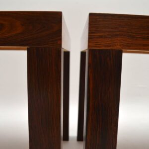 Pair of Danish Rosewood Side Tables by Centrum Mobler Vintage 1960's