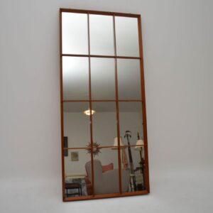 Large Retro Teak Mirror Vintage 1960's