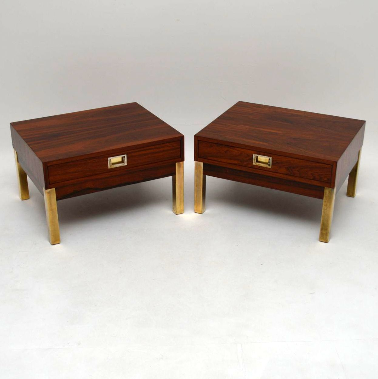 Pair of Rosewood Retro Side Tables Vintage 1960's