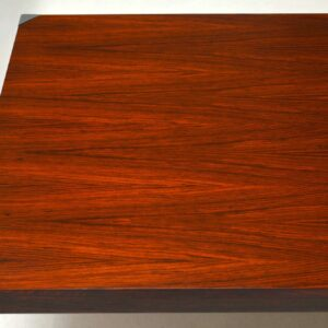 Danish Retro Rosewood & Steel Dining / Writing Table Vintage 1960's