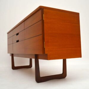 Retro Walnut Sideboard by Uniflex Vintage 1950's